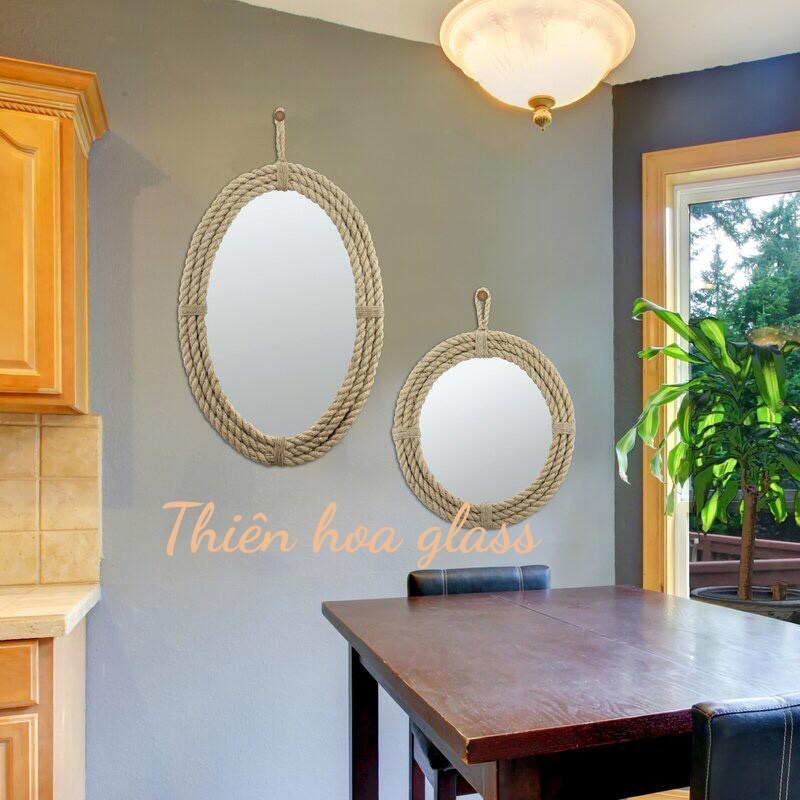 (Rẻ vô địch, bao vận chuyển vỡ đổi 1-1) Gương tròn lớn treo tườngGương tròn treo tườngGương trang trí Gương  décor l