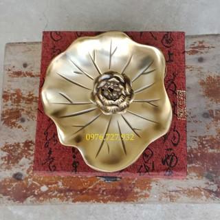 đốt trầm lá sen bằng đồng, xông trần hoa sen bằng đồng, bán xông trầm