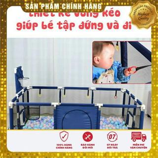 (ƯU ĐÃI KHỦNG) Nhà Bóng Trẻ Em- Quây Cũi Kiêm Nhà Bóng Khung Inox Tặng Kèm 50 Bóng Hola an toàn 7 inch