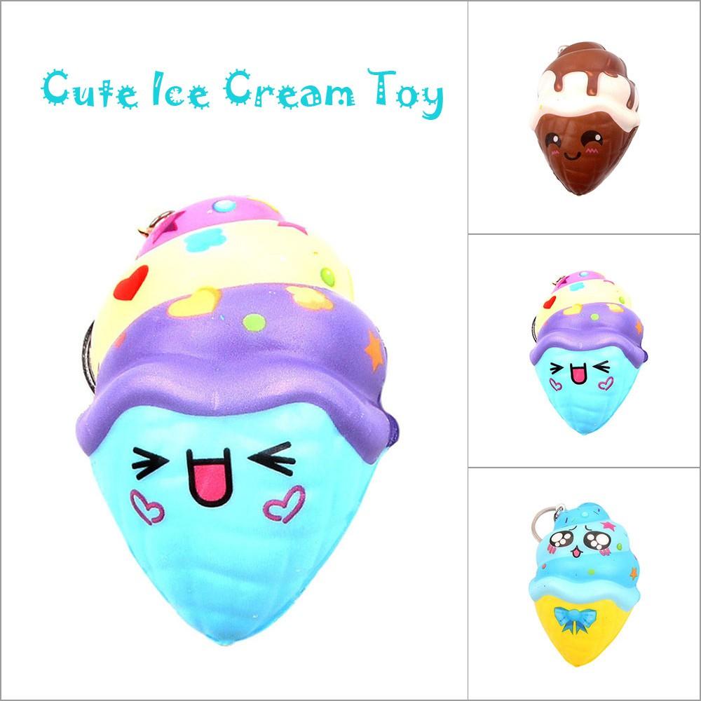 Đồ chơi bóp mềm hình cây kem dễ thương , giúp giảm stress