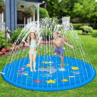 [ LOẠI 1 ] Thảm chơi phun nước cho bé – Tấm nệm phun nước 1.7m . Phao phun nước với vật liệu chất lượng Tốt