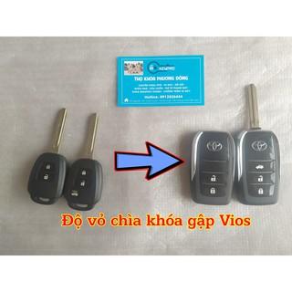 Vỏ chìa khóa gập Toyota Vios 2015 - 2019 ( From Mới ) thumbnail
