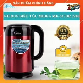 [Mã ELMS5 giảm 7% đơn 300k] [FreeShip] Bình đun nước MIDEA MK-317DR 1.7L Hàng chính hãng - Bảo hành 12 tháng