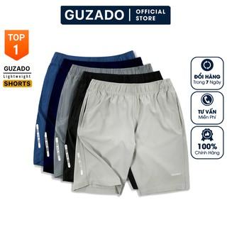 Quần đùi nam Guzado Vải Gió Siêu nhẹ thể thao khỏe khoắn mềm mịn, co giãn tốt, vận động thoải mái GSR01