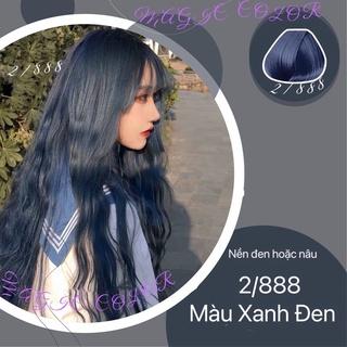 Thuốc nhuộm tóc Xanh dương đen không tẩy lên từ nền đen ( MAGIC CoLor) thumbnail