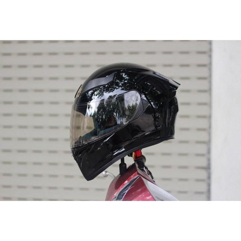 ( Kèm 1 Pinlock ) Mũ bảo hiểm Royal M138 1 kính Màu Đen Bóng + túi đựng nón và hộp
