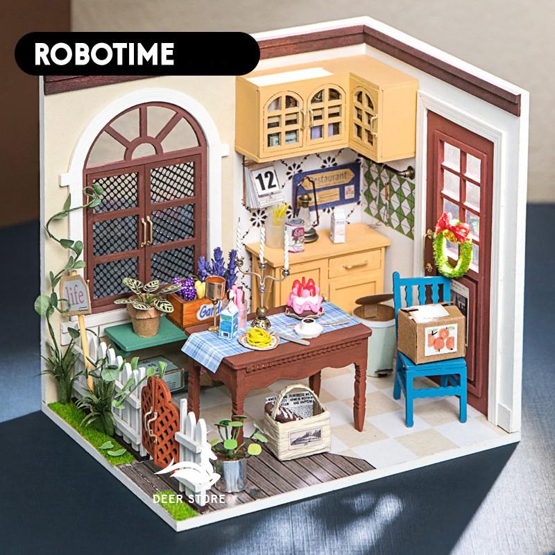 Mô hình nhà búp bê bằng gỗ (Tặng dụng cụ + keo) – Mô hình lắp ráp Robotime DGM 009
