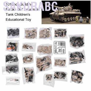 Sakurabc 1018pcs Building Blocks DIY Assemble Toy Tank Children's Educational