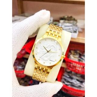 đồng hồ nam Baishuns mặt rồng dây vàng chống nước chống xước,tặng kèm vòng tì hưu