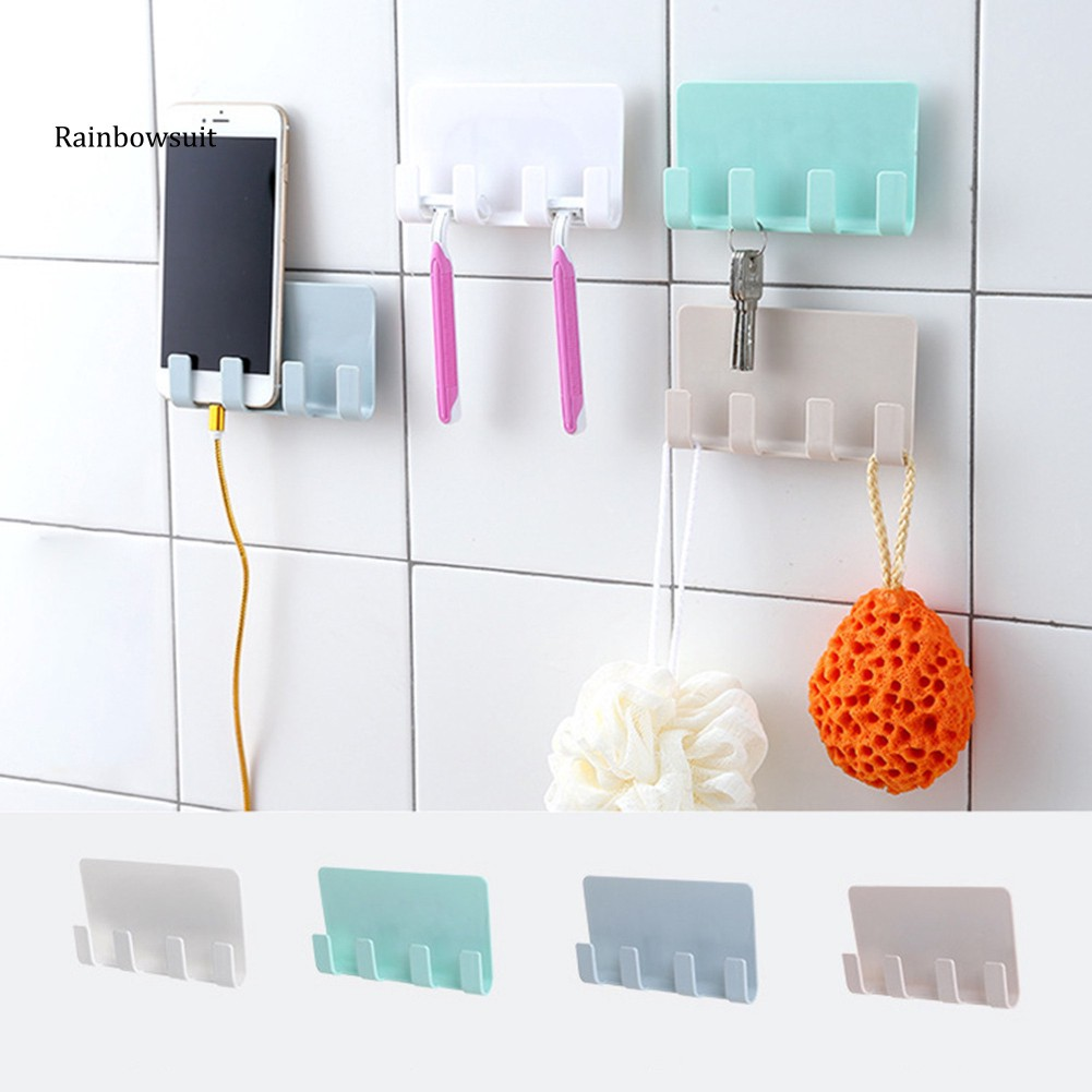 Móc treo đỡ điện thoại gắn tường đa năng tiện dụng