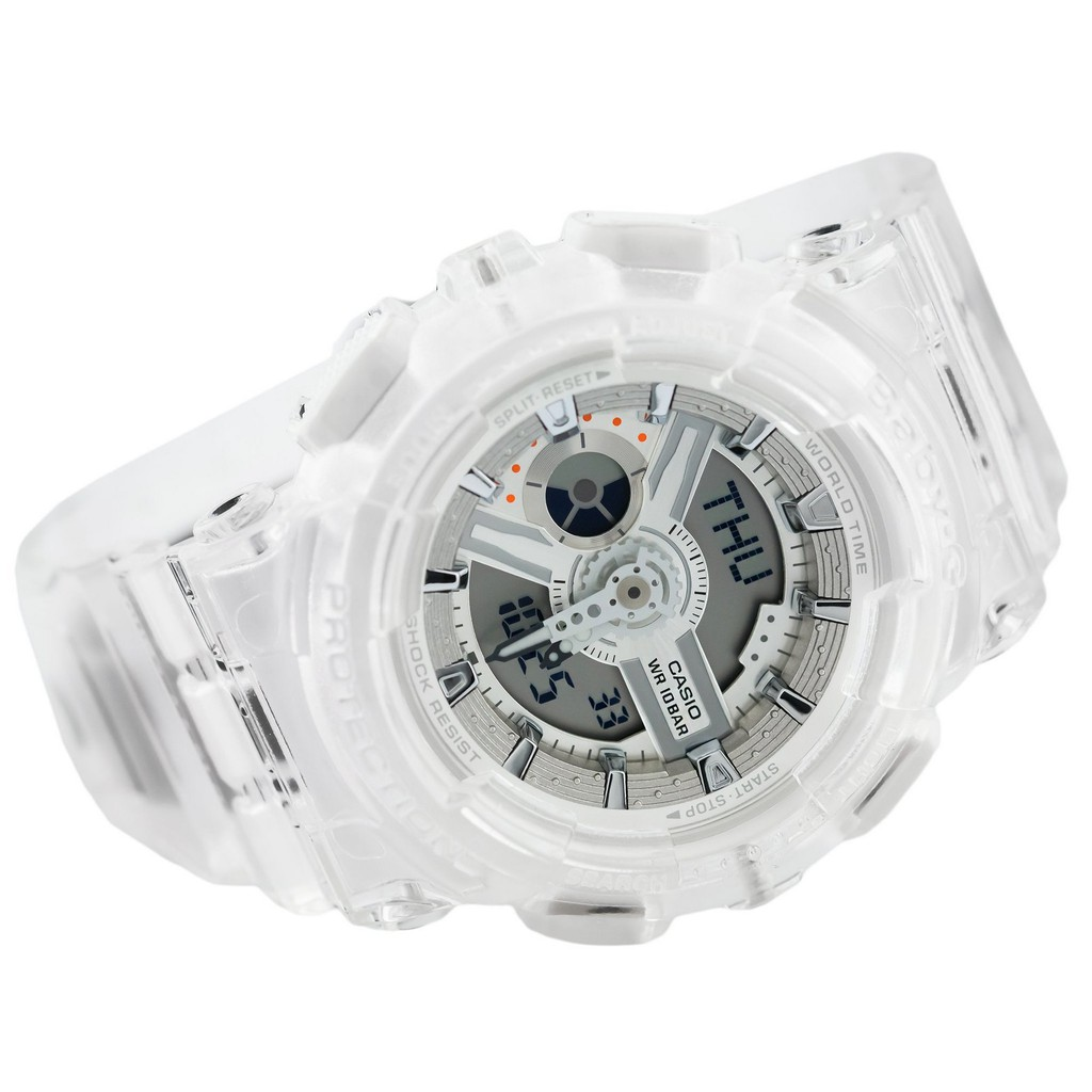 Đồng hồ nữ dây nhựa Casio Baby-G chính hãng Anh Khuê BA-110CR-7ADR