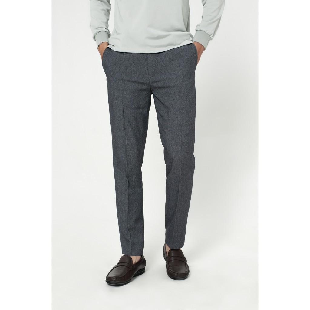 Quần tây nam dáng đứng cao cấp 3 màu cơ bản, quần âu nam vải chéo chống xù cạp bo viền
