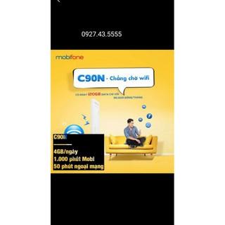 [FREE THÁNG ĐẦU] SIM 4G Mobifone C90N ngày 4GB tháng 120GB + 1000 phút nội mạng + 50 ngoại mạng