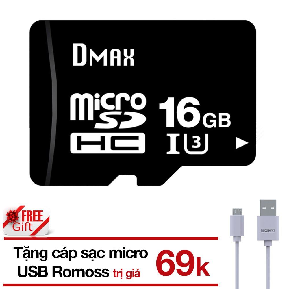 (Tặng cáp) Thẻ nhớ 16Gb tốc độ cao U3, up to 90MB/s Dmax micro SDHC (Bảo hành 5 năm) tặng Cáp micro - 2756964 , 1031012717 , 322_1031012717 , 169000 , Tang-cap-The-nho-16Gb-toc-do-cao-U3-up-to-90MB-s-Dmax-micro-SDHC-Bao-hanh-5-nam-tang-Cap-micro-322_1031012717 , shopee.vn , (Tặng cáp) Thẻ nhớ 16Gb tốc độ cao U3, up to 90MB/s Dmax micro SDHC (Bảo hành
