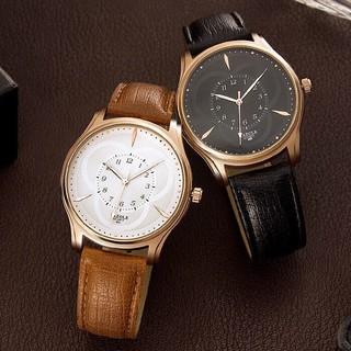 Đồng hồ nam YAZOLE 423 dây da chính hãng cao cấp Fullbox chống nước tốt AH475 thumbnail