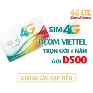 Sim 4G Viettel D500 Và D900 Trọn Gói 1 Năm, lướt web thả ga tốc độ cao – BẢO HÀNH 12T