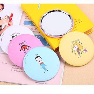 Gương trang điểm mini họa tiết hoạt hình phong cách Hàn Quốc xinh xắn
