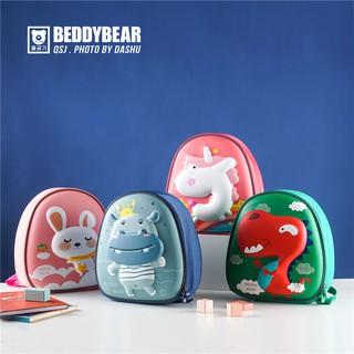 BEDDYBEAR Balo cho bé học mẫu giáo, mầm non từ 2 đến 5 tuổi, chính hãng, chất liệu nhẹ an toàn thumbnail