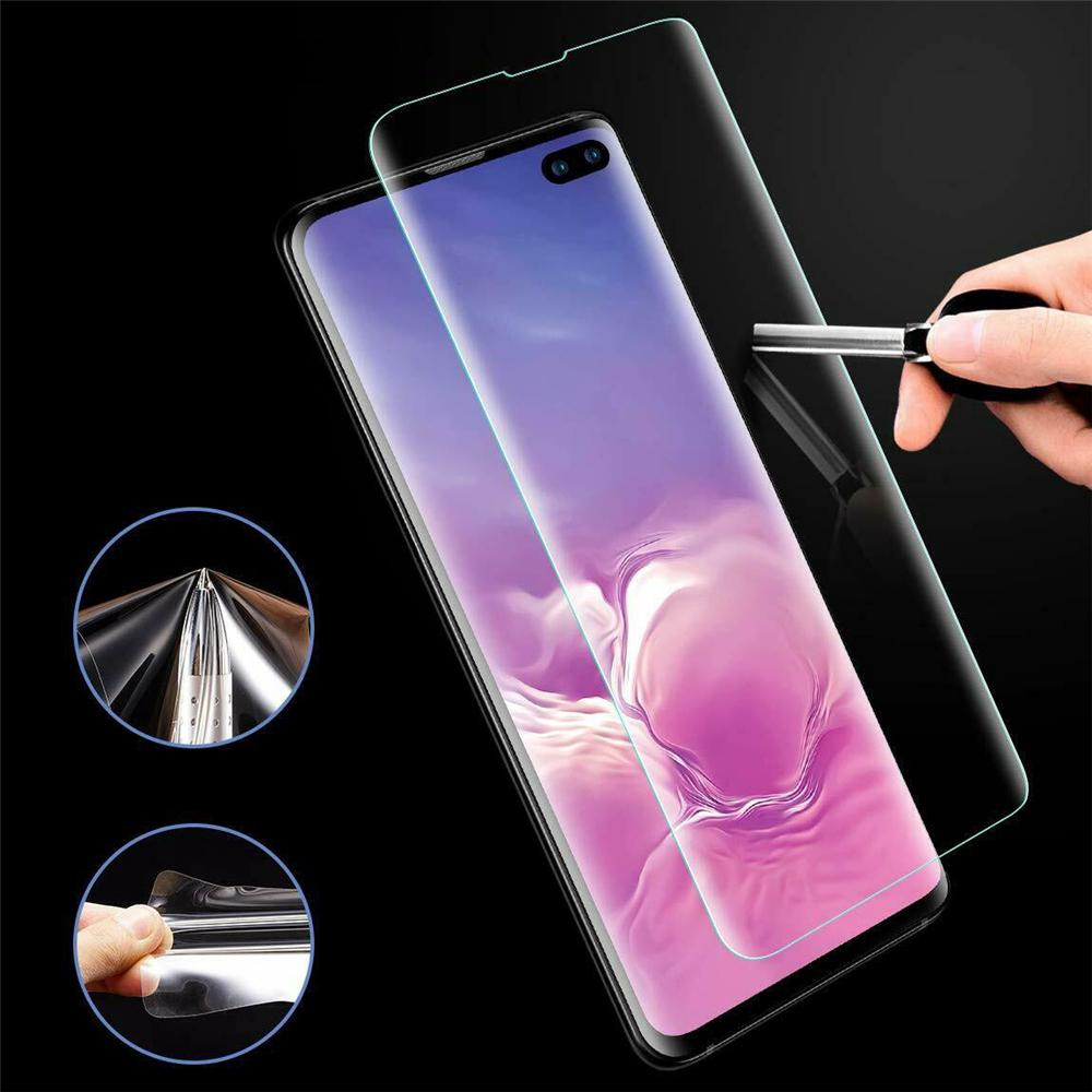 For Samsung Galaxy S10 S10 Plus UV Curved Tempered Glass Screen Practical