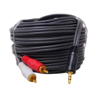 Dây cáp loa âm thanh Dtech 1 đầu 3.5 ra 2 đầu AV dài 1M5-3M-5M-10M