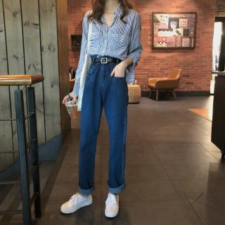Quần Jean Nữ Lưng Cao Ống Rộng Phong Cách Vintage