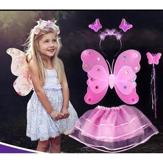 ( GIÁ SỈ ) cánh bướm cho bé kèm váy