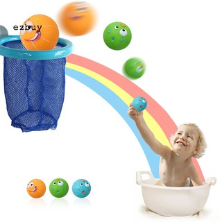 【EY】Toddlers Baby Basketball Hoop Shooting Balls Dabbling Water Playset Bath Toy