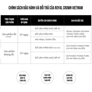 Bộ Sưu Tập Đồng Hồ Nữ Chính Hãng Royal Crown Dây Đá Vỏ Trắng 1514J/ 5308J/ 1516J