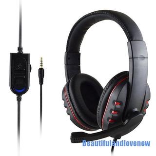 [Beautifulandlovenew 0316] Gaming Headset Stereo Surround Headphone 3.5mm Wired Mic For PS4 Xbox one Laptop