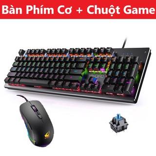 COMBO Bàn Phím Cơ H650 Và Chuột Gaming V6 Led Đổi Màu Siêu Đẹp, Keyboard Led 10 Chế Độ Blue Switch Game thumbnail