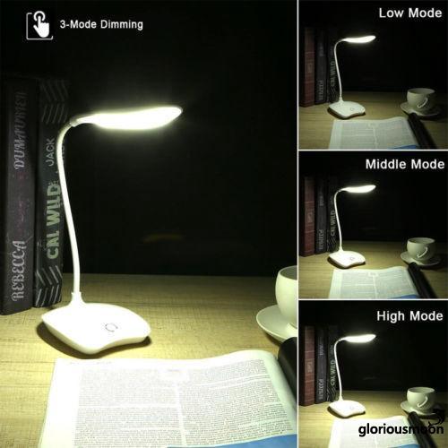 Đèn LED để bàn cảm ứng thông minh 3 chế độ sáng tiện dụng