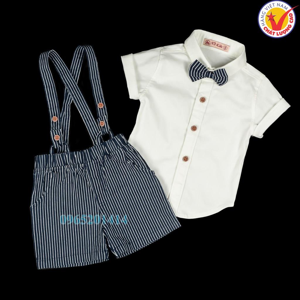 Sét Yếm bộ đồ quần áo dây sọc màu sơ mi bé trai vải cotton co dãn Việt Nam cho trẻ em tuổi 6 - 36 tháng dưới 15 kg - 13833019 , 2080033622 , 322_2080033622 , 285000 , Set-Yem-bo-do-quan-ao-day-soc-mau-so-mi-be-trai-vai-cotton-co-dan-Viet-Nam-cho-tre-em-tuoi-6-36-thang-duoi-15-kg-322_2080033622 , shopee.vn , Sét Yếm bộ đồ quần áo dây sọc màu sơ mi bé trai vải cotton