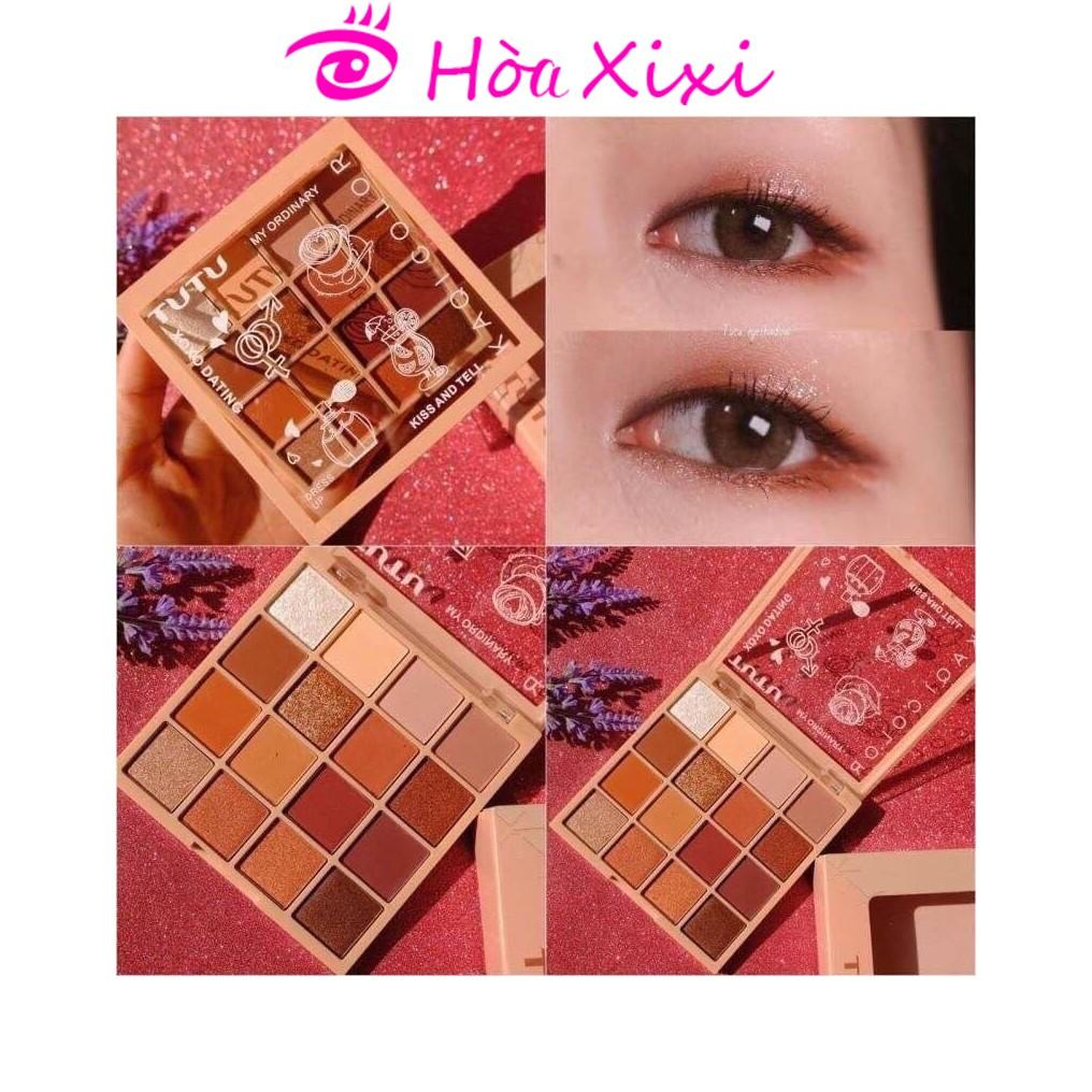 Bảng mắt 16 màu TUTU KAQI COLOR nội địa Trung