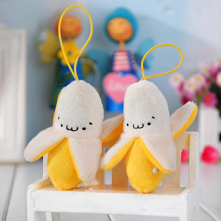Children Toys Plush Banana Mobile Phone Pendant Married Birthday Gifts