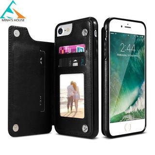 Bao da kiêm ví đựng tiền, thẻ, card.. cho các dòng Iphone(s) 6,7,8 rất tiện lợi