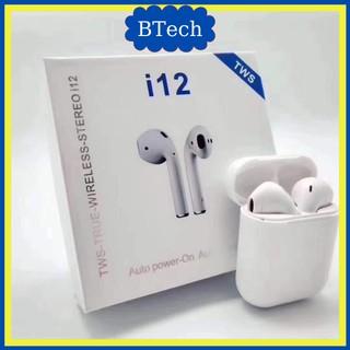 [FREESHIP] Tai Nghe Bluetooth TWS i12 5.0 Tai nghe không dây iphone Samsung Phiên Bản Quốc Tế Cực Chất