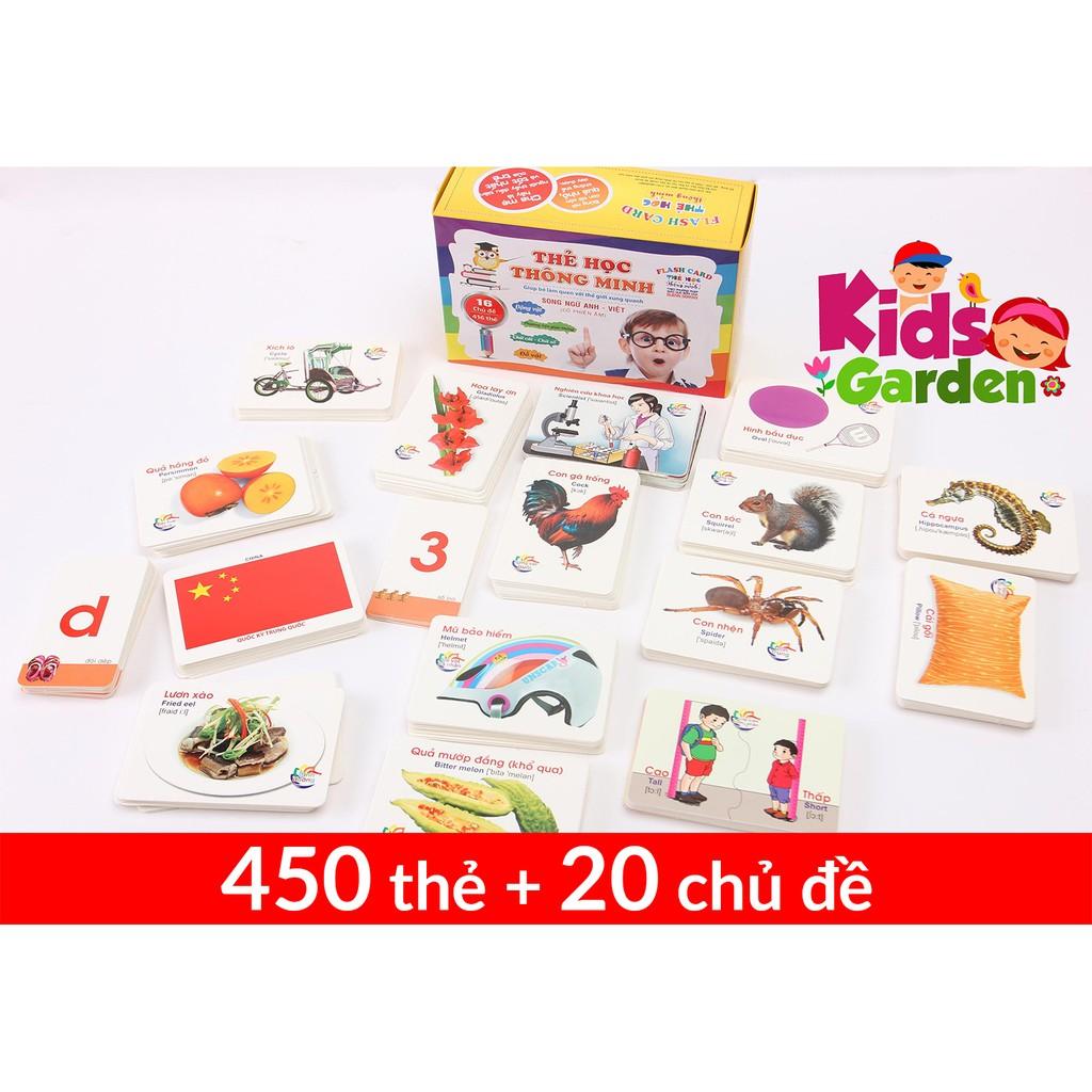 [Khuyến mại Sốc] - Bộ thẻ học thông minh cho bé - 450 thẻ với 20 chủ đề - Tặng kèm 2 quà hấp dẫn
