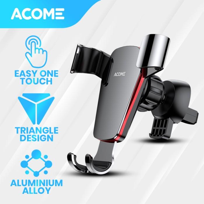[Hàng Mới Về] ACOME ACH02 Giá Đỡ Điện Thoại Ô Tô hợp kim nhôm cao cấp nút xoay 360 độ dễ dàng điều chỉnh