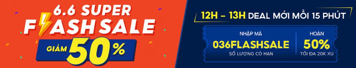 Flash Sale giá 1k - trong khung giờ 0h - 12h - 21h