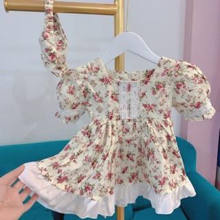 Đầm Thiết Kế Cho Bé 💕𝑭𝑹𝑬𝑬𝑺𝑯𝑰𝑷  + TĂNG KÈM TURBAN💕Đầm Trẻ Em Đầm Cho Bé Hàng Thiết Kế Cao Cấp VNXK