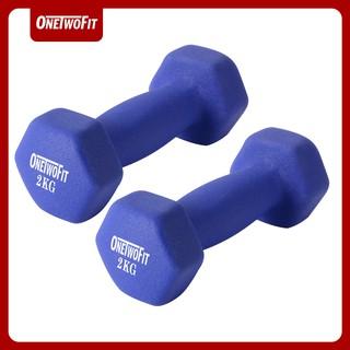 OneTwoFit tạ tay 4kg 5kg Neoprene Bộ 2 tạ Dumbbell bộ 2 tạ tay 2kg 2.5 kg thumbnail
