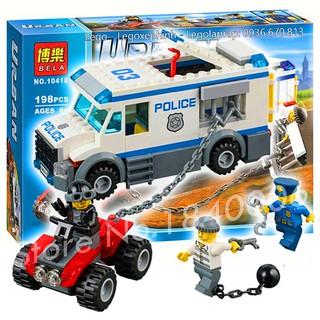 Bộ Lego Xếp Hình Ninjago Xe Cảnh Sát Bọc Thép. Gồm 198 Chi Tiết. Lego Ninjago Lắp Ráp Thông Minh Cho Bé