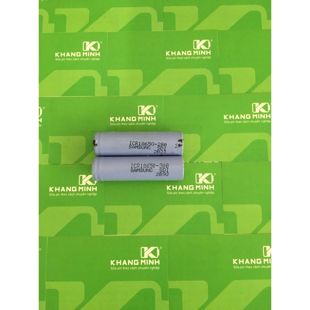 KM Cell pin Samsung ICR18650-28A/30B cũ, tháo ra từ pin laptop chính hãng.