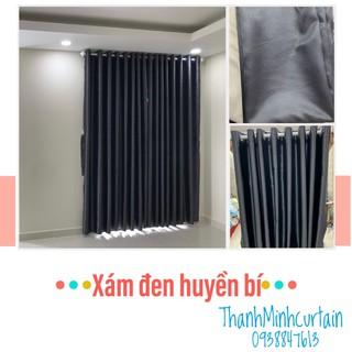 Rèm cửa xám đen chống nắng cực tốt 🔆, sang trọng, nhiều kích cỡ, hoạ tiết – Rèm Cửa Thanh Minh