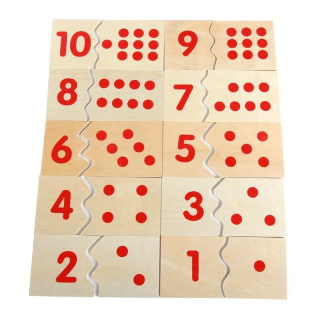 Giáo cụ Montessori - Số và thẻ dot 1-10