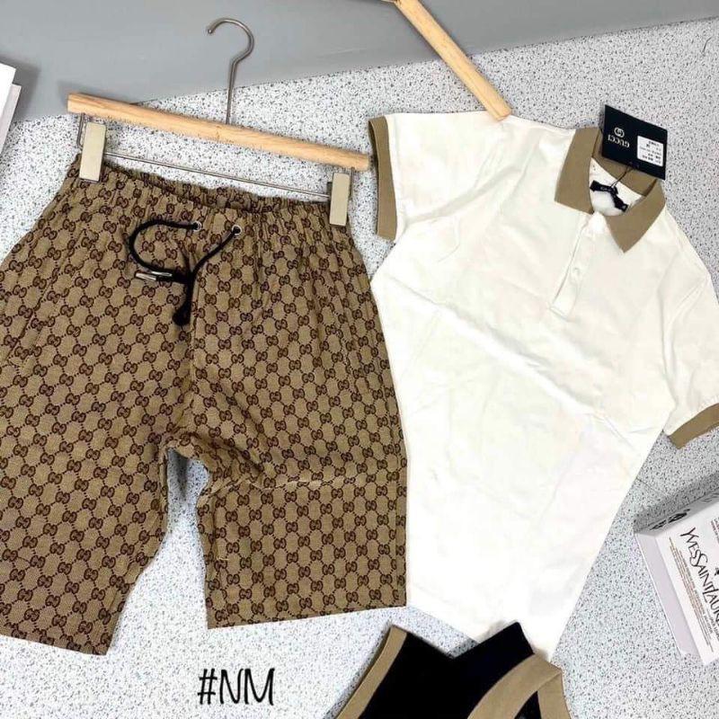 Bộ cộc Gucci dành cho nam , Bộ quần áo hè dành cho nam