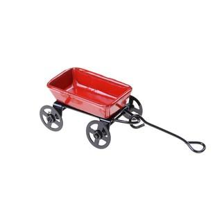 1:12 Dollhouse Miniature Garden Metal Cart Furniture Pretend Play Toys Decor