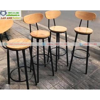 Ghế bar cao chân sắt giá rẻ (Size H45- H72)