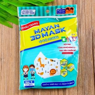 Khẩu trang 3D Mask Mayan Gói 5 cái