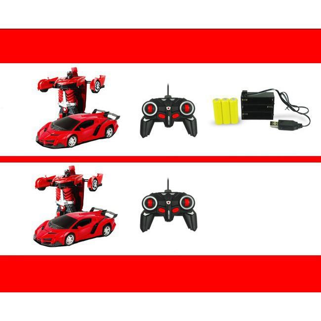 Đồ chơi-Xe hơi biến hình thành robot Transfomers điều khiển từ xa (219)-Đồ chơi giải trí cho bé yêu